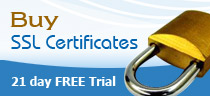 SSL Certificates, 21 days free trial